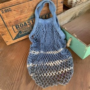 ✨HAND DYED FRENCH MESH NET MARKET BAG✨
